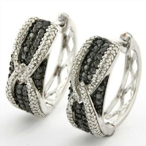 Jewelry - Black and White Diamond Earrings